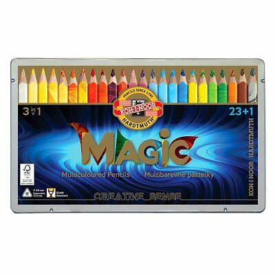 Koh-I-Noor MAGIC Jumbo Crayon de Couleur Triangulaire  (Lot de 24)