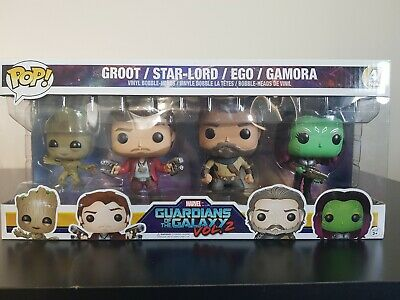 Funko Pop - Groot, Star-Lord, Ego, Gamora 4 Pack - Guardians of the Galaxy 2