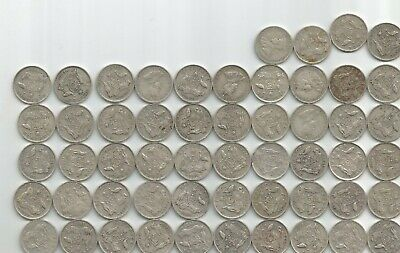 Australia Lot 54 x 1927-1936 6d sixpence circulated mixed condition mostly F-VF