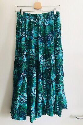 VINTAGE 80s PHOOL INDIAN COTTON SKIRT S/M UK8-10 HIPPIE / BOHO FESTIVAL EXC.COND