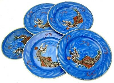 Blue Dragon Ware Plates x 4 and 1 Saucer