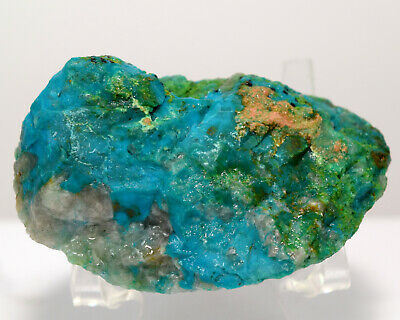 275ct Blue Chrysocolla Rough Natural Chalcedony Mineral Cab Crystal Stone - Peru