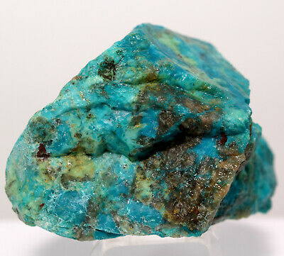 375ct Blue Chrysocolla Rough Natural Crystal Cab Mineral Stone Specimen - Peru