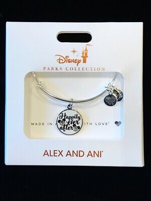 Disney Alex & Ani Happily Ever After Mickey And Minnie Silver Bangle Bracelet