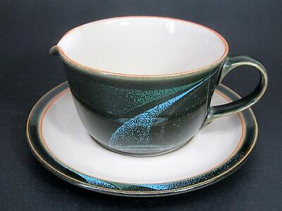 Vintage Denby Coloroll England Gravy Boat & Underplate