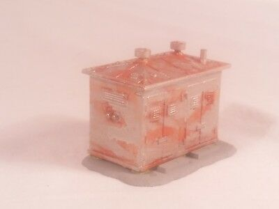 HO Scale Model Power Trackside Utility Shed Weathered & Fully Painted