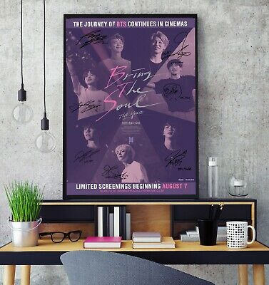 BTS Signed Bring The Soul The Movie Premium Poster Print Professional Grade HD