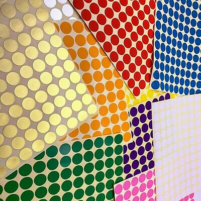 15 Sheets Any Size Dot Stickers Round Spot Circles Dots Paper Labels WHOLESALE