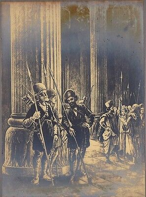 PERSEPOLIS Ancient Persian soldiers at the Palace of Hundred Columns mounted 180