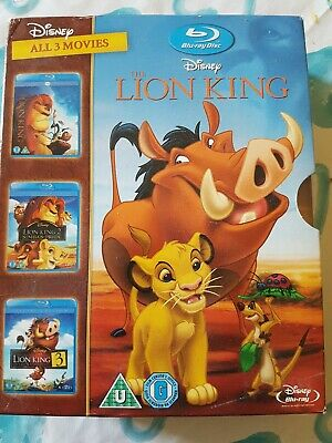 The Lion King Trilogy - English (Blu-ray, 2011, 3-Disc Set, Box Set)