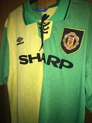 Retro Manchester United 1992-94 Large Shirt Newton Heath Man Utd Jersey CANTONA