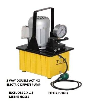 Electric Driven Hydraulic Pump Double Acting Manual Valve £345.00.+ Vat
