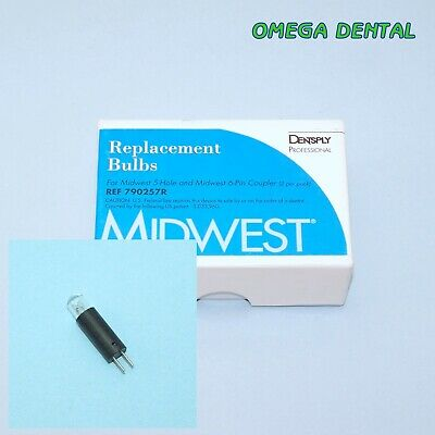 2x Midwest Replacement Bulbs for 6 Pin Coupler, 790257 Omega Dental