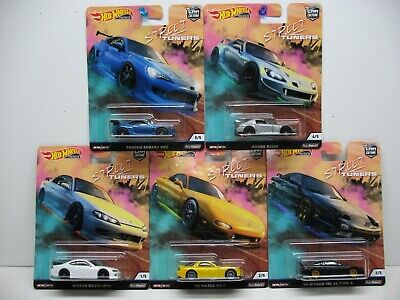 2019 Hot Wheels Premium Car Culture Street Tuners Complete Set 1/64 Fpy86-956L