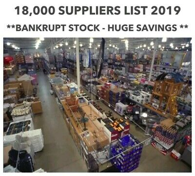 18,000+ Suppliers List 2019 | Joblot - Wholesale | Bankrupt Stock Up To 90% Off