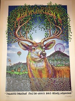 EMEK Wakarusa 2013 Poster Widespread Panic Black Crowes YMSB Umphrey's Snoop Dog
