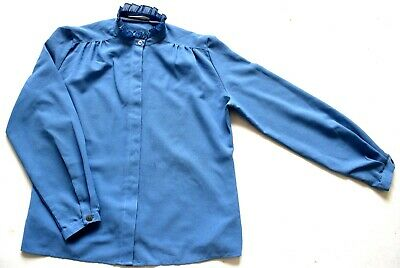 Vintage 70's / 80's Blue French Blouse Retro 14
