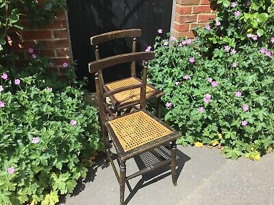 Pair Of Victorian Chairs Wirh Cane Seats