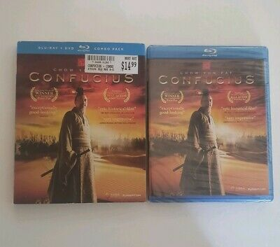 CONFUCIUS Bluray DVD Combo W/ Slipcover Chow Yun Fat  Brand New Factory Sealed