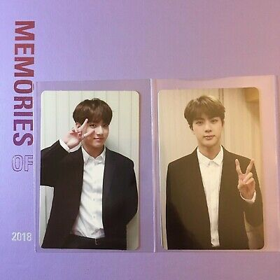 BTS OFFICIAL Memories Of 2018 Photocard Jungkook Jin
