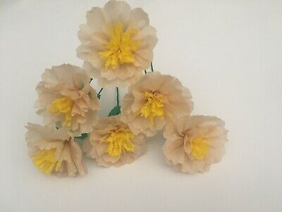 Crafts// Party Mexican Crepe Paper flowers Sett of 6 MARGARITAS