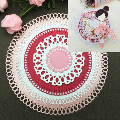 ALS_ Circle Frame Metal Cutting Dies Scrapbooking Embossing Paper Cards Stencil