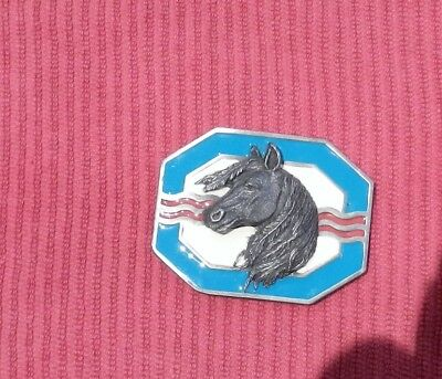 Belt Buckle Indian Mighty Horse Made in USA Siskiyou Vintage 1993