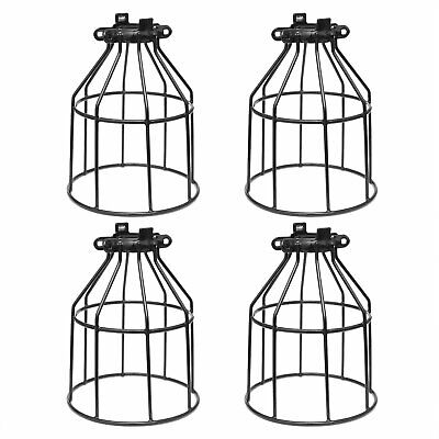 Supmart Metal Bulb Guard, Clamp On Steel Lamp Cage for Hanging Pendant, 4-Pack
