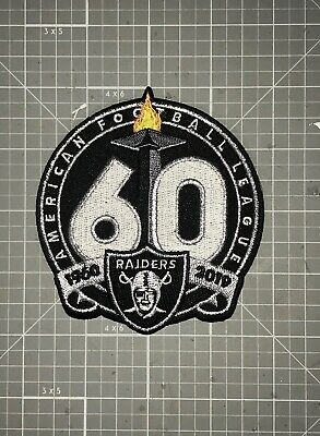 Oakland Raiders Jersey Patch 1960 Afl 1960-1919 Iron/ Sew On 4 Inch! 🔥