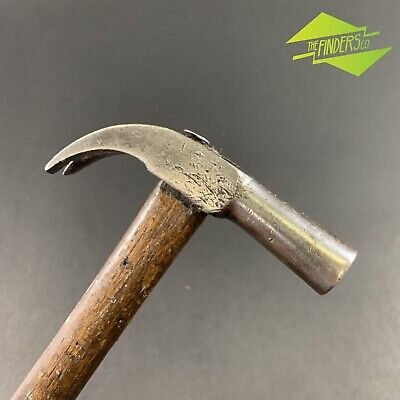 STUNNING ANTIQUE 19th CENTURY COBBLERS UPHOLSTERY TACK CLAW HAMMER WOODWORK TOOL