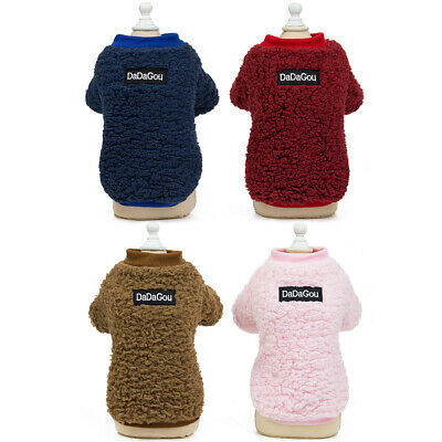 Warm Pet Dog Clothes Soft fleece Outfit For Small Dogs Puppy Winter Coat Jacket