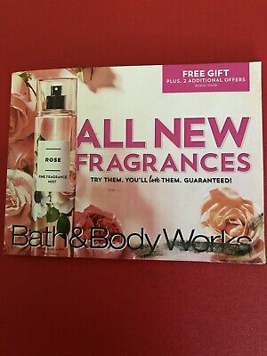 (3) Bath & Body Works Gift,20% Off Purchase & $5 Body Mist Coupons exp. 8/25/19