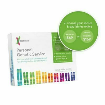 23andme Personal Genetic Service DNA Saliva Kit For Ancestry & Health