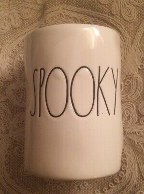 New Rae Dunn By Magenta SPOOKY Halloween Candle Ceramic with LARGE  LETTERS 🎃
