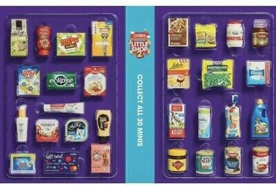 FULL SET COLES LITTLE SHOP 2 MINI COLLECTABLES WITH CASE Free Post