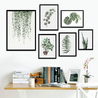 Nordic Modern Green Panlts Leaves Wall Handing Canvas Art Poster Home Decor New