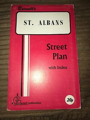 Barnett's Vintage Map St Albans  Street Plan with index