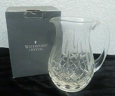 """""""LOOK"""" Waterford Crystal Lismore 60fl oz Pitcher NEW OPEN BOX   K"""