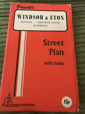 Barnett's Vintage Map Windsor And Eton  Slough Burnham Street Plan with index