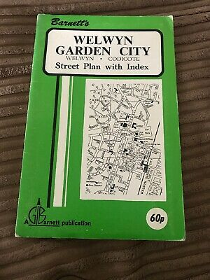 Barnett's Vintage Map Welwyn Garden City Codicote  Street Plan with index