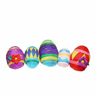Northlight 10' Inflatable Lighted Easter Eggs Outdoor Decoration
