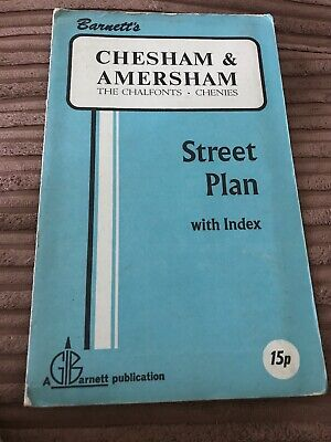 Barnett's Vintage Map Chesham And Amersham  Street Plan with index