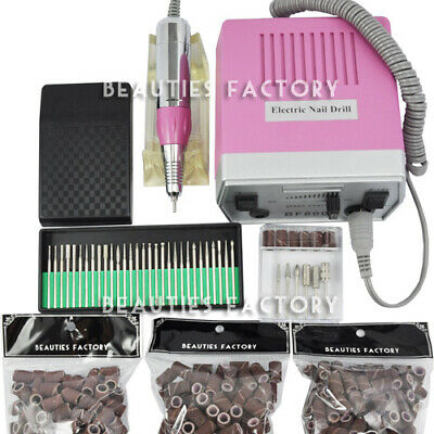 Improved Overheat & Vibration Electric Nail File Drill With Warranty #800