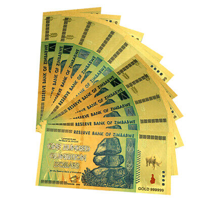 10pc Zimbabwe 100 Quintillion Dollars Banknote For Collection 2-6 Days Delivery