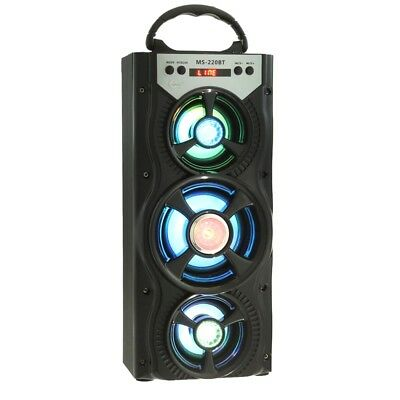 Universale Redmaine Ms - 220BT Speaker Bluetooth Radio Fm Aux LED Controluce