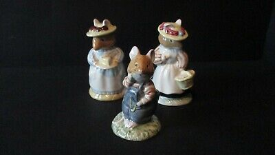 "Brambly Hedge    "" 3 Mouse Figures   ""  All  1St Quality"
