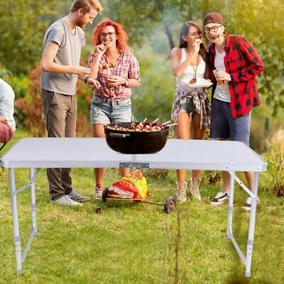 Catering Camping Heavy Duty Folding Trestle Table Picnic BBQ Party 4ft 60X60X7cm