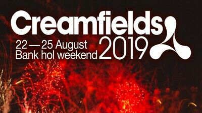 Creamfields 2019 - Silver3 day Camping Ticket. X 4