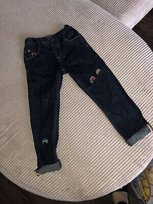 """""""Next"""" Boys Age 5-6 Years Embroidered Cars Jeans"""