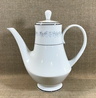 """Noritake Contemporary Fine China Marywood Floral 8.5"""" Coffee Pot #2181 Japan"""